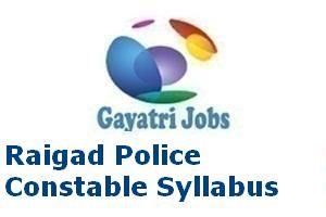 Raigad Police Constable Syllabus