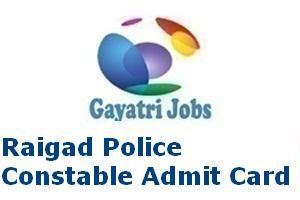 Raigad Police Constable Admit Card