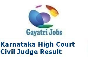 Karnataka High Court Civil Judge Result