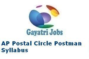 AP Postal Circle Postman Syllabus
