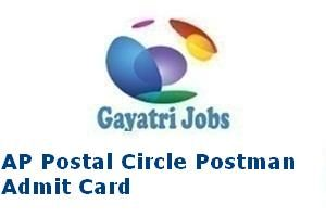 AP Postal Circle Postman Admit Card