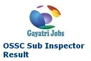 OSSC Sub Inspector Result