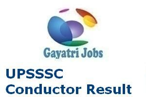 UPSSSC Conductor Result