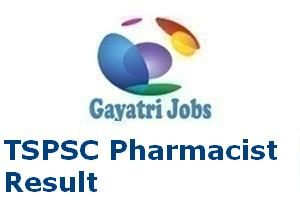 TSPSC Pharmacist Result