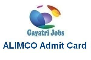 ALIMCO Admit Card