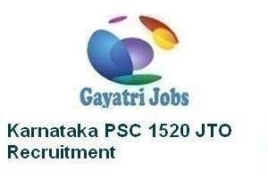 Karnataka PSC 1520 JTO Recruitment