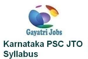 Karnataka PSC JTO Syllabus
