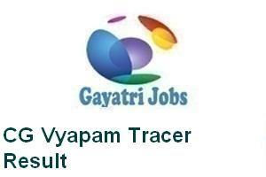 CG Vyapam Tracer Result