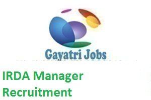 IRDA Manager Recruitment