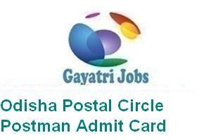 Odisha Postal Circle Postman Admit Card