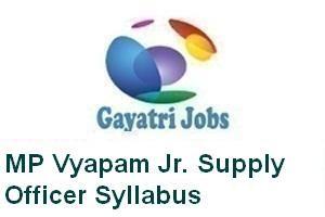 MP Vyapam Jr. Supply Officer Syllabus