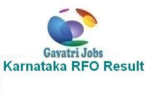 Karnataka RFO Result