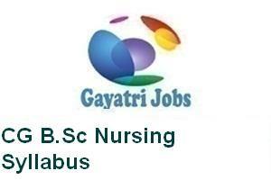 CG B.Sc Nursing Syllabus