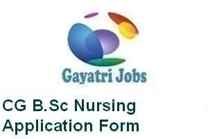 CG B.Sc Nursing Application Form