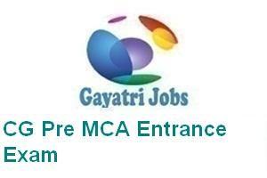 CG Pre MCA Entrance Exam