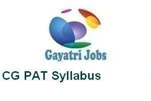 CG PAT Syllabus