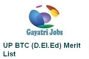 UP BTC (D.El.Ed) Merit List