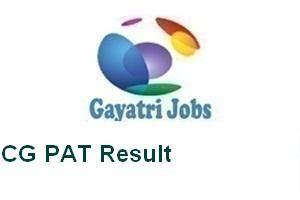 CG PAT Result
