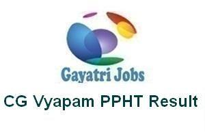 CG Vyapam PPHT Result