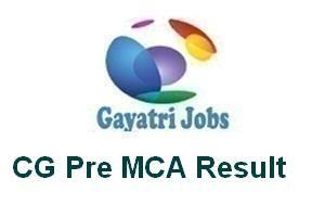 CG Pre MCA Result