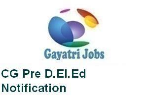 CG Pre D.El.Ed Notification