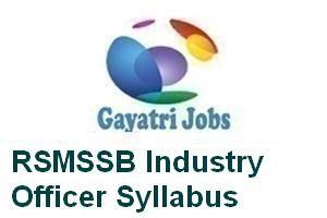 RSMSSB Industry Officer Syllabus