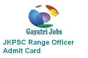 JKPSC Range Officer Admit Card