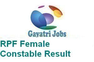 RPF Female Constable Result
