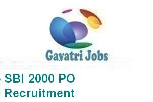 SBI 2000 PO Recruitment