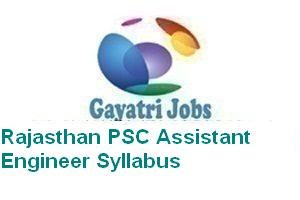 Rajasthan PSC Assistant Engineer Syllabus