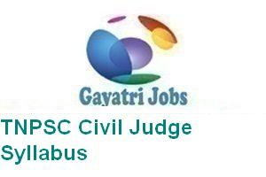 TNPSC Civil Judge Syllabus