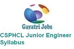 CSPHCL Junior Engineer Syllabus