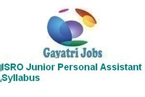 ISRO Junior Personal Assistant Syllabus
