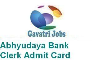 Abhyudaya Bank Clerk Admit Card