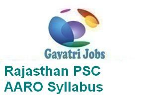 Rajasthan PSC AARO Syllabus