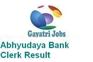 Abhyudaya Bank Clerk Result