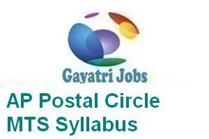 AP Postal Circle MTS Syllabus