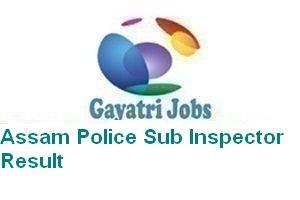 Assam Police Sub Inspector Result