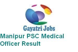 Manipur PSC Medical Officer Result