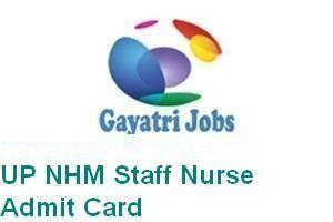 UP NHM Staff Nurse Admit Card