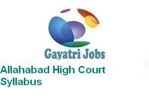 Allahabad High Court Syllabus