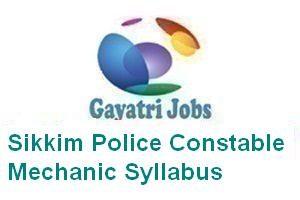 Sikkim Police Constable Mechanic Syllabus