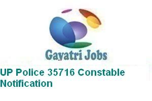 UP Police 35716 Constable Notification