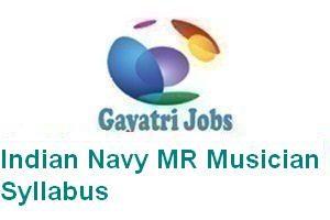 Indian Navy MR Musician Syllabus