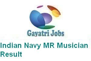 Indian Navy MR Musician Result