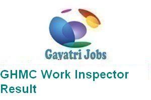 GHMC Work Inspector Result
