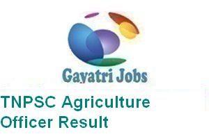 TNPSC Agriculture Officer Result