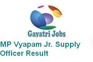 MP Vyapam Jr. Supply Officer Result