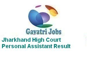Jharkhand High Court Personal Assistant Result