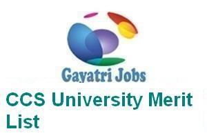 CCS University Merit List